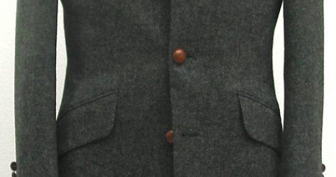 グレー無地ツイード|ロングジャケット