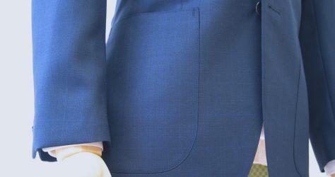 ネイビーグレンチェック+オーバープレイドジャケット