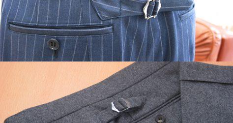 バックストラップ(後ろ尾錠)とサイドストラップ(脇尾錠)